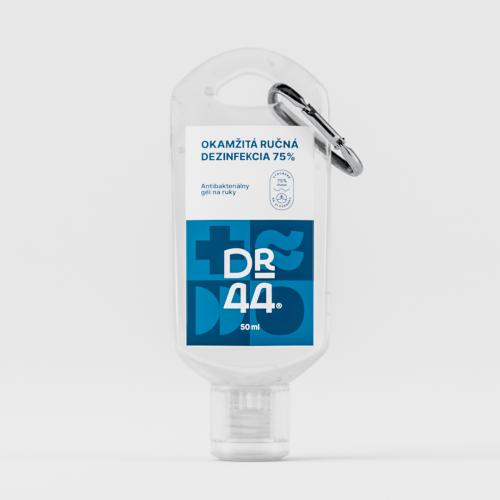 DR.44 Okamžitá ručná dezinfekcia 75% - karabínka 50ml