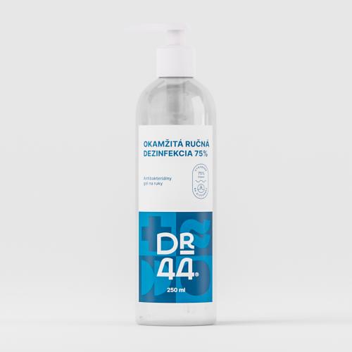 DR.44 Okamžitá ručná dezinfekcia 75% - pumpička 250 ml