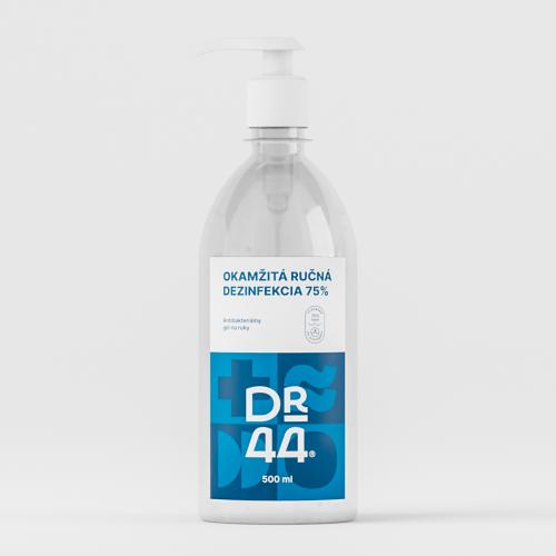 DR.44 Okamžitá ručná dezinfekcia 75% - pumpička 500 ml
