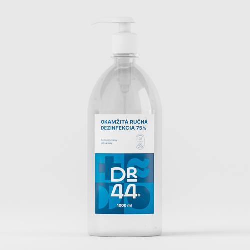 DR.44 Okamžitá ručná dezinfekcia 75% - pumpička 1000 ml