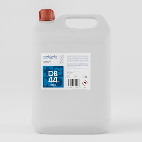 DR.44 okamžitá ručná dezinfekcia 75% kanister 5000 ml