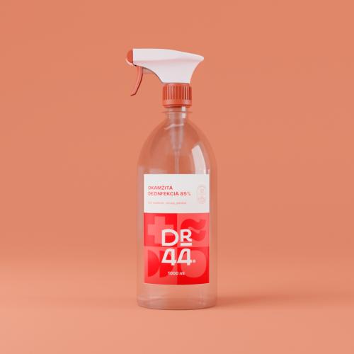DR.44 Okamžitá dezinfekcia 85% - rozprašovač 1000ml