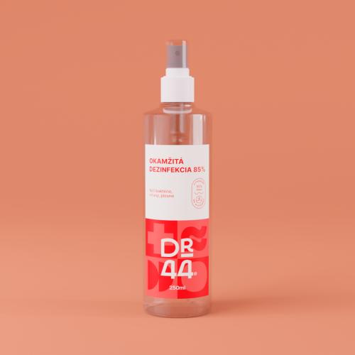 DR.44 Okamžitá dezinfekcia 85% - rozprašovač 250 ml